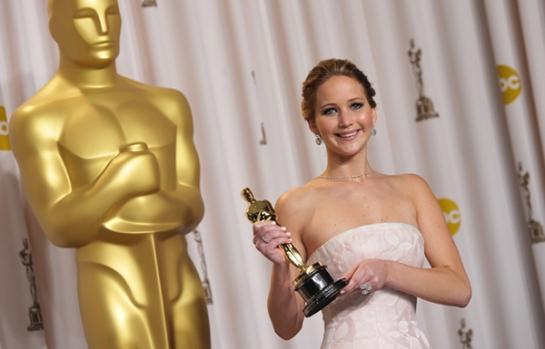 """Lawrence se llevó el Óscar en 2013 por mejor actriz principal en """"Silver Linings Playbook"""""""