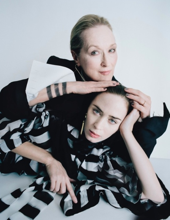 Meryl Streep y Emily Blunt en 'Into the Woods'.